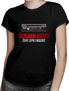 Czarny t-shirt Koszulkowy z krótkim rękawem z okrągłym dekoltem