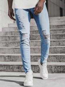 Niebieskie jeansy producent niezdefiniowany z jeansu