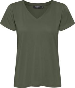 Zielony t-shirt Soaked in Luxury z krótkim rękawem