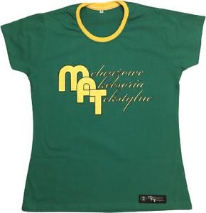 T-shirt Melanżowe Akcesoria Tekstylne w młodzieżowym stylu z bawełny