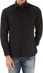 Czarna koszula Del Siena z długim rękawem w stylu casual