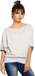 Bluzka MOE z krótkim rękawem w stylu casual z bawełny