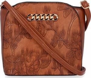 Brązowa torebka Bee Bag w stylu glamour