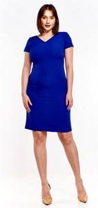 Sukienka Ptakmoda.com ołówkowa z krótkim rękawem