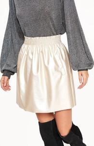 Złota spódnica Top Secret ze skóry mini
