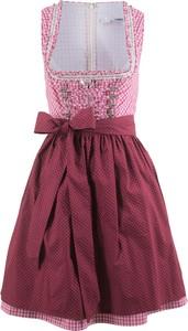 Fioletowa sukienka bonprix bpc bonprix collection rozkloszowana bez rękawów midi