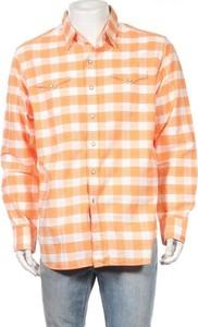 Pomarańczowa koszula POLO RALPH LAUREN w stylu casual z długim rękawem