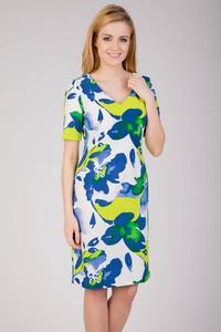 Sukienka QUIOSQUE z dekoltem w kształcie litery v z krótkim rękawem