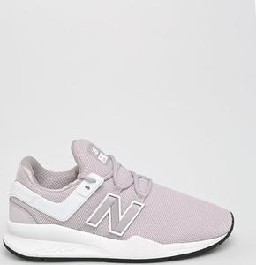 Fioletowe buty sportowe New Balance z płaską podeszwą
