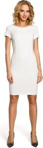 Sukienka MOE ołówkowa z krótkim rękawem z okrągłym dekoltem