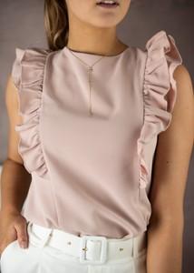 Bluzka Fason z krótkim rękawem z okrągłym dekoltem