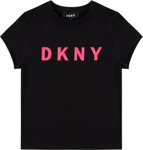 Czarna koszulka dziecięca DKNY