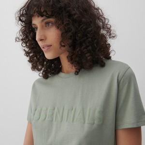 Bluzka Reserved w stylu casual z bawełny z okrągłym dekoltem