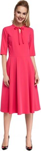 Sukienka MOE z długim rękawem z dekoltem w kształcie litery v