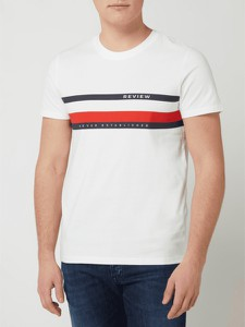 T-shirt Review z bawełny z nadrukiem