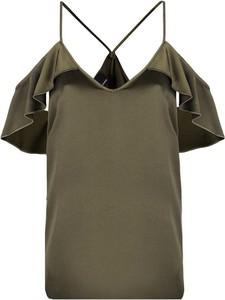 """Zielona bluzka Pinko Bluzka """"elizabeth Top"""" z krótkim rękawem"""