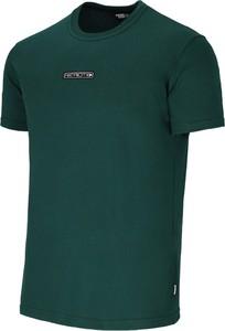 Zielony t-shirt Patriotic z krótkim rękawem w stylu casual