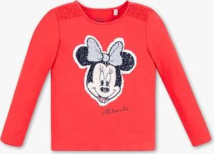 Czerwona koszulka dziecięca C&A z bawełny