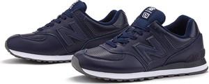 Niebieskie buty sportowe New Balance 574 ze skóry