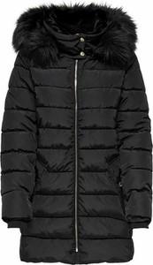Czarna kurtka Only w stylu casual długa