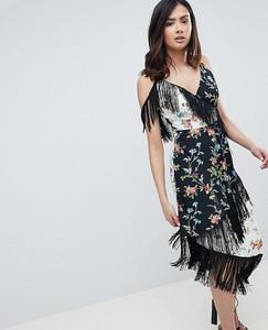Sukienka Asos z dekoltem w kształcie litery v midi w stylu boho
