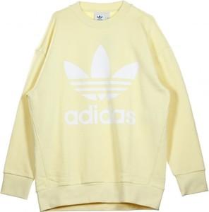 Żółty sweter Adidas