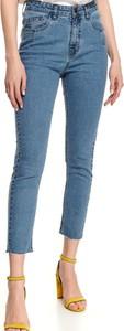Niebieskie jeansy Top Secret z jeansu