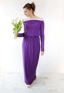 Fioletowa sukienka Meleksima