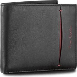 Czarny portfel męski pierre cardin ze skóry