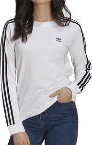Bluzka Adidas w sportowym stylu z bawełny z okrągłym dekoltem