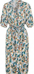 Niebieska sukienka See u Soon z krótkim rękawem