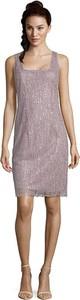 Brązowa sukienka Vera Mont mini na ramiączkach
