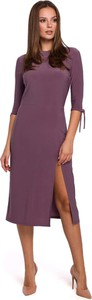 Sukienka Makeover midi z długim rękawem prosta