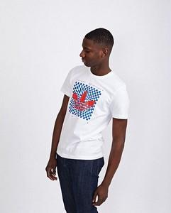 T-shirt Adidas Originals z nadrukiem z bawełny z krótkim rękawem