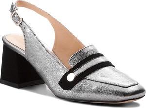 Sandały Eva Minge w stylu casual na średnim obcasie z klamrami