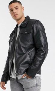 Czarna kurtka SCHOTT w stylu casual ze skóry