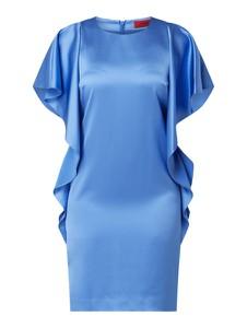 Sukienka Hugo Boss mini z okrągłym dekoltem z krótkim rękawem