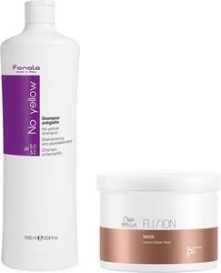 Fanola No Yellow and Fusion Intense Repair Mask | Zestaw do ochrony włosów blond oraz ich odżywienia: szampon 1000ml + maska 500ml - Wysyłka w 24H!