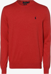 Pomarańczowy sweter POLO RALPH LAUREN w stylu casual z bawełny