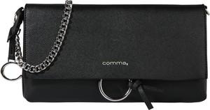 Czarna torebka comma, ze skóry na ramię mała