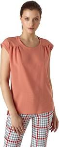 Różowa bluzka Colett z krótkim rękawem