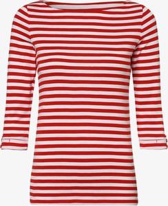 Czerwona bluzka Esprit w stylu casual z długim rękawem