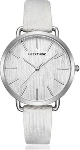 Delikatny zegarek damski geekthink - srebrny