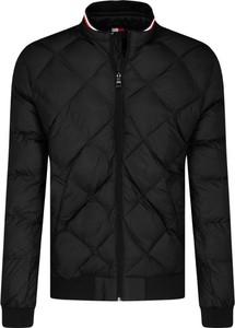 Czarna kurtka Tommy Hilfiger w stylu casual ze skóry krótka