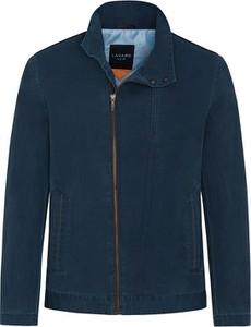 Niebieska kurtka Lavard z bawełny w stylu casual