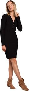 Sukienka MOE ołówkowa z długim rękawem