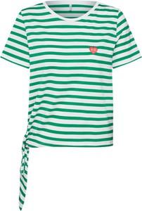 Bluzka Only z okrągłym dekoltem z krótkim rękawem