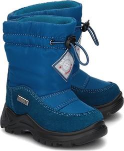 Niebieskie buty dziecięce zimowe Naturino na rzepy