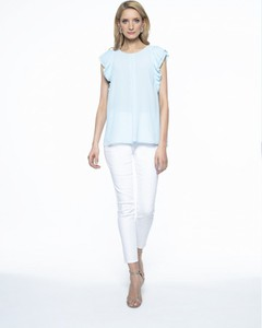 Niebieska bluzka L'AF z tkaniny w stylu casual