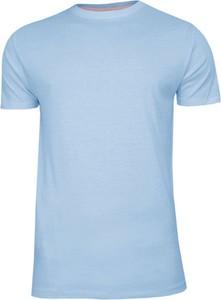 Niebieski t-shirt Brave Soul z krótkim rękawem z bawełny